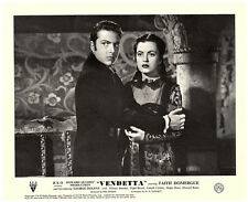 Vendetta original Howard Hughes lobby card Faith Domergue looks startled
