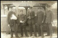 WOUNDED WW1 GERMAN PLATTON SOLDIERS ANTIQUE PHOTO MILITARY RPPC POSTCARD