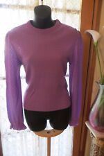 VINTAGE 70'S ~ STYLE GIRL  ~ Purple JUMPER/TOP  * Size 10/12  *
