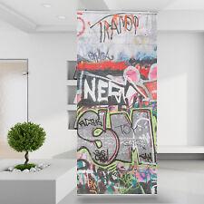Raumteiler | Vorhang Gardine Graffiti Malerei Schrift Abstrakt Kunst Bunt 76