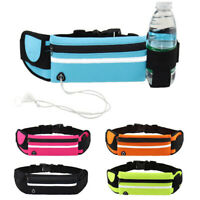 Sport Belt Waist Pack Pouch Water Bottle Holder Bag f Running Jogging Hiking