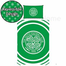 Celtic FC Pulse Single Duvet Cover Set Football Club Crest Boys - 2 in 1 Design