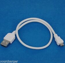 """0.5m 50cm Fast Charger ONLY USB Cable WHITE for Samsung Galaxy Tab S 10.5"""" 8.4"""""""