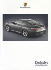 Porsche 911 996 Exclusive las instrumentaciones con aerokit folleto brochure 2001/25