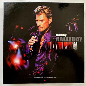 "JOHNNY HALLYDAY - COFFRET OLYMPIA 2000 "" 3 Vinyles + CD + VHS "" HORS COMMERCE"