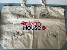 New listing Clean House TV Show Tote Bag W/Autographs Niecy Nash Matt Iseman Style Network
