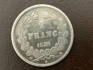 1 Franc Louis Philippe Ier 1839 B Rouen TB + Louis Philippe Ier, 1830-1848