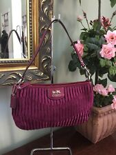 Coach Madison clutch Gathered Signature Large Wristlet Berry 47173 W14