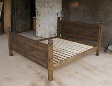 Pinie Massiv Bett 180x200 Doppelbett Holz Massivholzbett corona Eiche antik