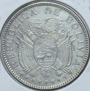 Bolivia 1909 50 Centavos Eagle animal Alpaka 295404 combine shipping