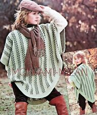 Crochet Pattern LADIES PONCHO TOP Great For Layering COVER-UP WRAP Autumn Winter