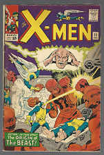 X-MEN # 15 Dec 1965 SENTINELS ORIGIN The BEAST STAN LEE JACK KIRBY