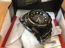 23917 Invicta 52mm Bolt ZEUS COMBAT BLACK Swiss Quartz Black SS Bracelet Watch