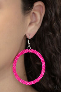 Paparazzi - Beauty and the BEACH Pink Seed Bead Earrings ~ 🔥NEW RELEASE 2021🔥
