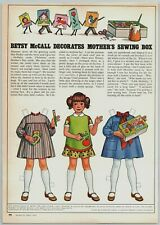 1978 McCalls Paper Dolls Betsy McCall Decorates Mothers Sewing Box Print Ad