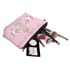 Bolsa de Maquillaje Unicornio Reina/cosméticos de viaje/Idea de Regalo con lápiz corona de color rosa