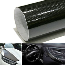 5D Superb Carbon Fiber Vinyl Wrap Roll Film Sticker Car Sheet Silver 50cm*9.5M