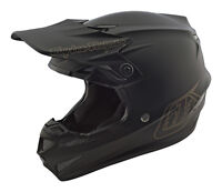2019 Troy Lee Designs TLD Adult SE4 Polyacrylite Mono Helmet Matte Black MX ATV