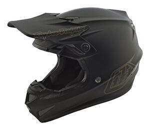 Troy Lee Designs TLD Adult SE4 Polyacrylite Mono Helmet Matte Black MX ATV