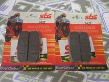 SBS Dual Carbon Racing Track Brake Pads for Brembo Monoblock Caliper XA8Y310/11