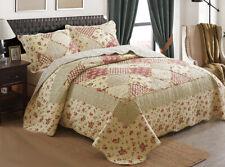 Patchwork Coverlet / Bedspread Set Comforter Quilt Queen King Size 230x250cm 12#