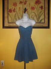NWT Guess Los Angeles Strapless Denim Dress Size 4