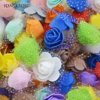 50Pcs/lot 3.5cm Mini PE Foam Roses Multi-use Artificial Flower Heads Handmade DI