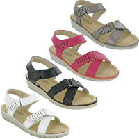 Cushion Walk Slingback Leather Sandals Open Toe Comfort Lightweight Ladies UK3-8
