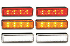 LED SURFACE OR RECESSED MOUNT LAMPS 2 X RED 2 X AMBER 2 X WHITE TRAILER 135S.