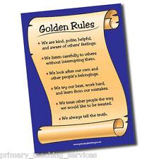 DP24 - A1 Golden Rules Poster Teachers School Classroom