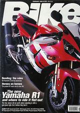 Bike Feb 2000 R1 Hayabusa RSV Mille CBR600 ZX-9R Sprint