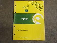John Deere 720 Ridge Till Planter Hitch Owners Amp Maintenance Manual