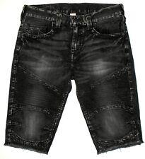 d524c5e3f NWOT Mens 33 Relaxed True Religion Straight Cutoff Moto Denim Shorts Shorts   229
