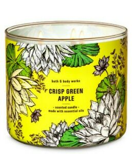 Bath & Body Works Crisp Green Apple 3 Wick Scented Candle 14.5 oz