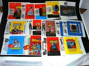 Lot of 15 Topps Card Wax Pack Wrappers Non Sports Star Wars Alien Space 1999