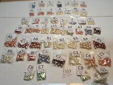 Vtg Lot Faux Teardrop Pearl Dangle Beads & No Hole Jewelry Findings Craft Repair