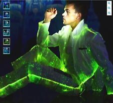 LED Optical Fiber Ilumination Men Suits Stage Theater Events Show Dancing Party