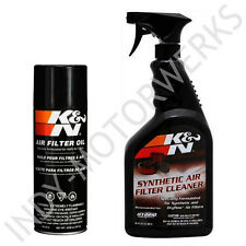 K&N AIR FILTER LARGE SIZE SERVICE KIT CLEANER AND OIL FOR  ALL REUSABLE FILTERS