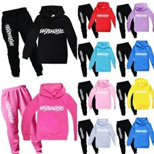 Unspeakable Unisex Boys Tracksuit Hoodie Pants Long Outfits Girls Birthday Gift