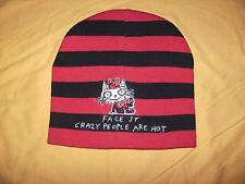 Jim Benton Face It Crazy People Are Hot Beenie Hat