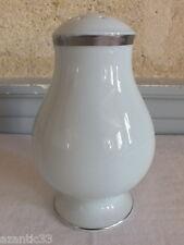saupoudreuse porcelaine blanche filet argent suger caster