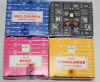 Satya Nag Champa Mix cone Incense Cone Lot 4 Boxes = 48 Cones