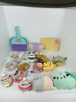 Pusheen Lot Of Keychains Ornaments Dustpan Post It Notes Recipe Cards