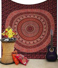 Couvre-lit indienne Tapisserie Elephant Mandala Throw Wall Hanging ethnique