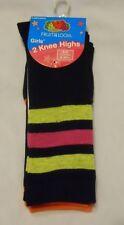 Girls Socks Shoe Sz 6-10.5 Small Fruit of the Loom Knee Highs D6704