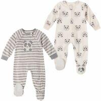 NEW! Absorba Baby 2-Pack Soft Fleece Blanket Sleeper, Panda, 18-Months