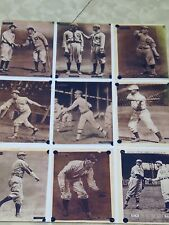 9 Vintage Copies Of  Baseball Players Pictures/ Cards Uncut Sheet