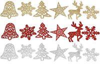 Christmas Tree Decorations Pack of 5 Hanging Snowflakes Tree Star Bell Reindeer