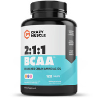Crazy Muscle® BCAA Tablets - 2:1:1 BCAAs Ratio of Branched Chain Amino Acids ✅ ✅