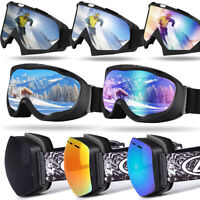 Men, Women, Youth - Windproof Ski/Snowboard Goggles Dual Lens UV Protect Glasses